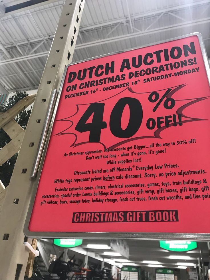 "Menards is having a ""Dutch Auction"""