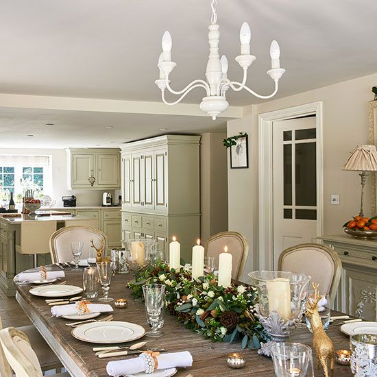 Kitchen-dining area for large family occasions