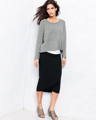 Eileen Fisher Viscose Jersey Calf-Length Skirt