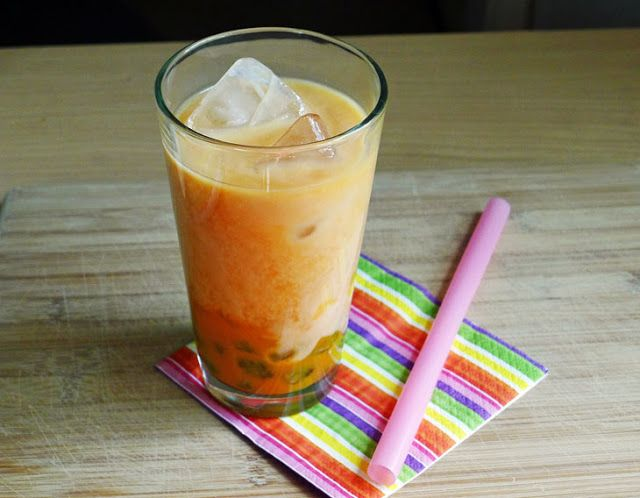 Cooking Weekends: Coconut-Mango Bubble Tea with Homemade Boba Pearls