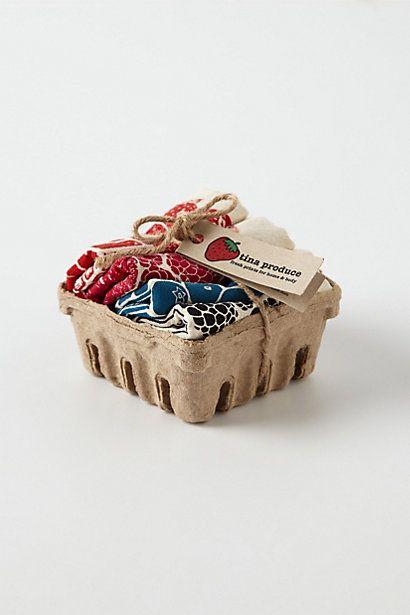 Mixed Berry Napkin Basket #anthropologie