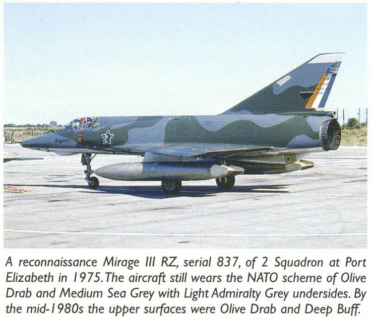 South African Air Force Dassault Mirage III RZ