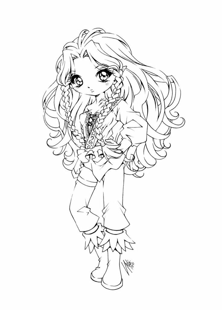 Sweetbreeze by sureya images to color pinterest - Coloriage chibi ...