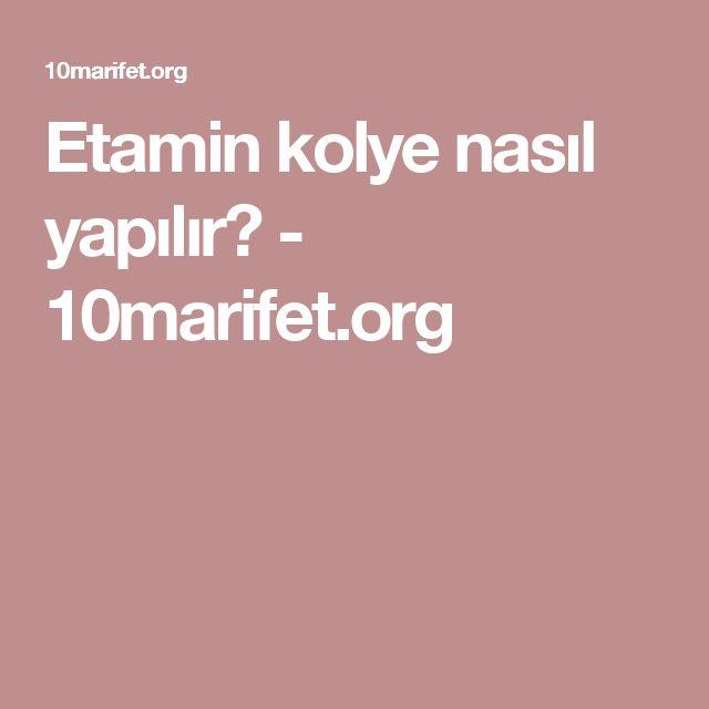 Etamin kolye nasıl yapılır? - 10marifet.org