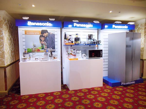 Panasonic Launch 2015 - Wall displays for kitchen appliances.