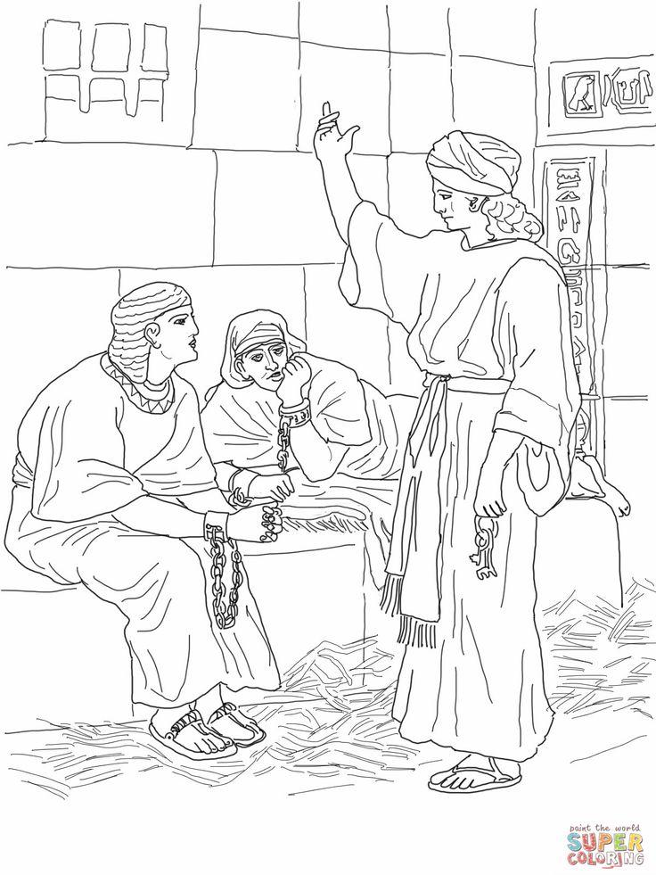 3 Joseph In Prison Coloring Page 1200x1600