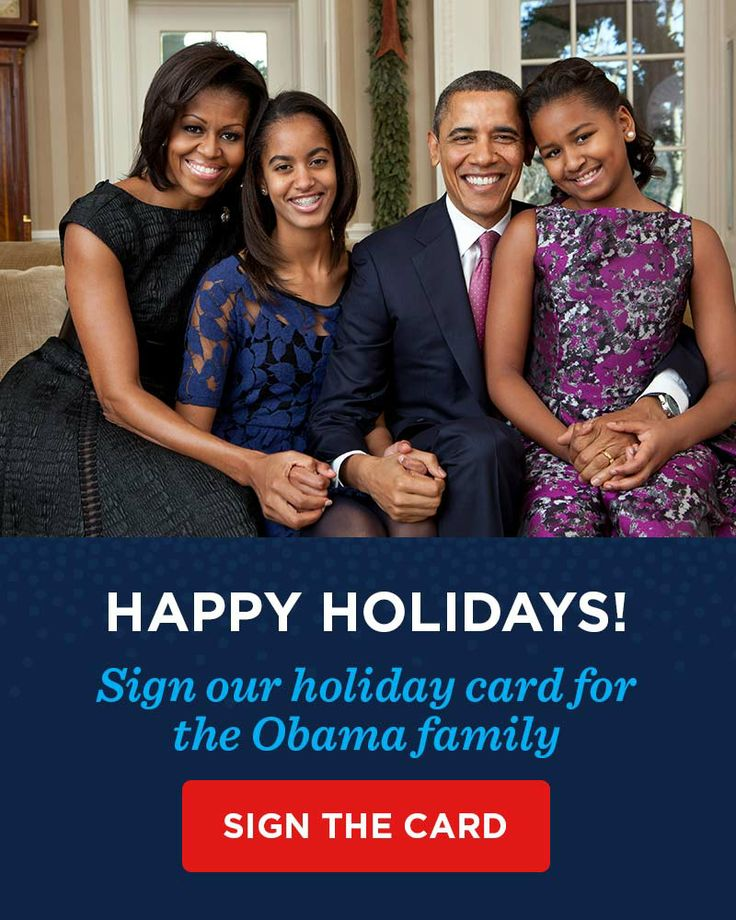 Happy Holidays From The Obama Family. | President Obama | Pinterest