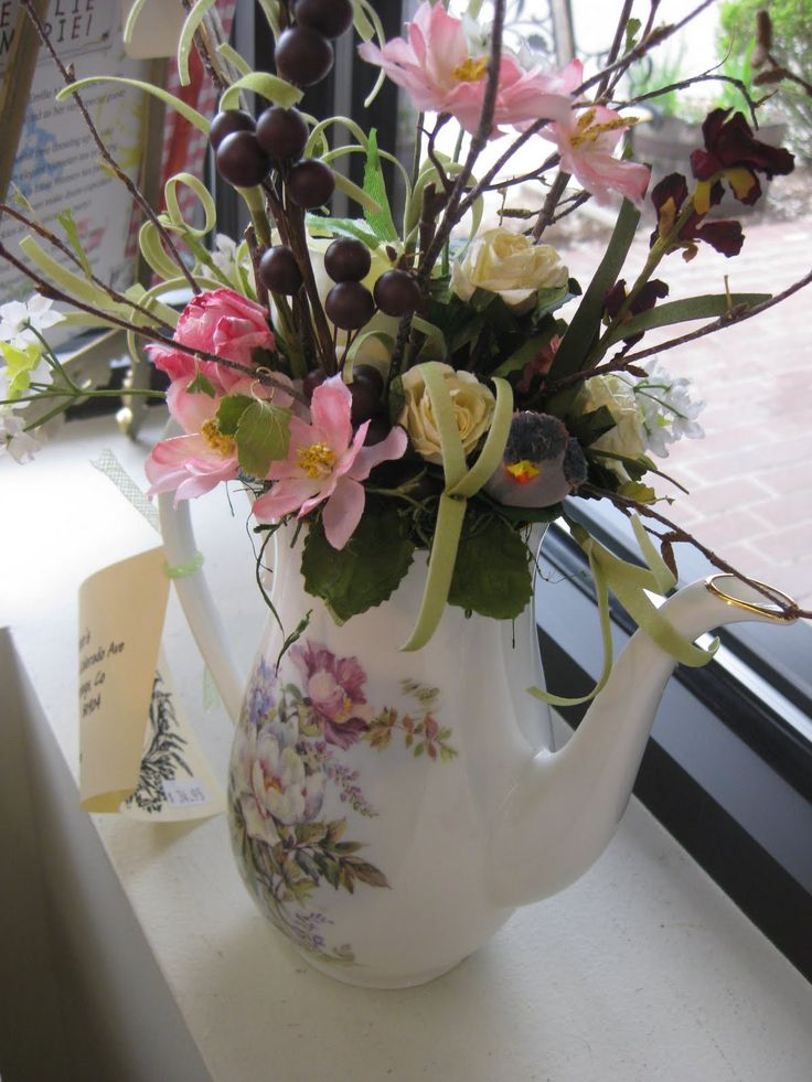 200 Best Images About Flower Teapot Bouquet On Pinterest Tea Parties Mother S Day And Fresh