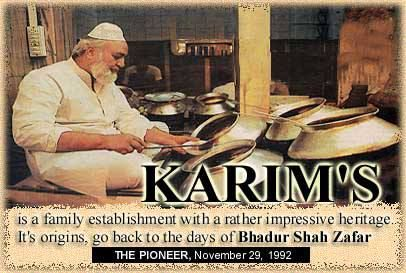 Fit for an emperor: Old Delhi's most enduring restaurant Karim's celebrates its centenary  KARIM HOTELS PVT. LTD. JAMA MASJID, GALI KABABIAN OLD DELHI - 110006, INDIA PHONE : +91-11-23269880, 23264981 E-MAIL : karimhoteldel@gmail.com http://www.karimhoteldelhi.com/restaurants.html