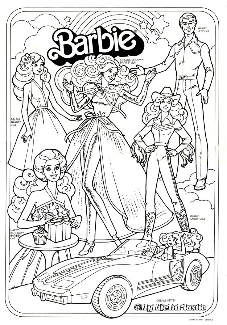 Retro Barbie Coloring Pages : Best coloring pages vintage images on pinterest