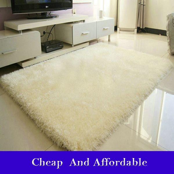 Hot Sale Flokati Shaggy Seatmat Carpet Soft Solid Rug Anti-skid Carpets Fit for Living Room Bedroom Long Plush Door Floor Mat