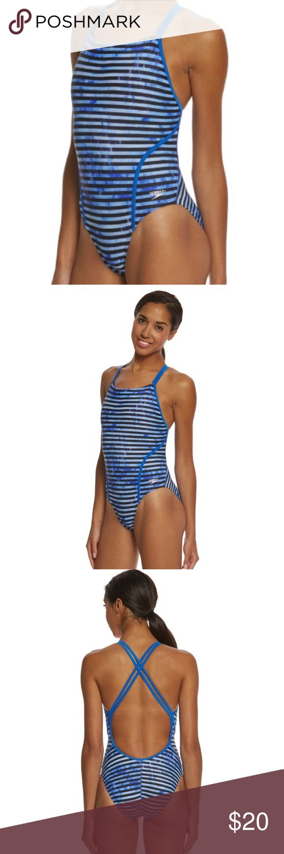 NWT Speedo PRO LT RACING STRIPE VOLT BACK SWIMSUIT New with tags! Speedo women's pro LT racing stripe volt back one piece swimsuit. Size 6/32.  Show your stripes as you win with the speedo women's one piece suit. This sleek cut one piece bathing suit features dual thin straps and minimal back coverage for maximum comfort. 85% polyester/15% spandex. High leg cut. Competitive fit. Pro LT fabric. Speedo Swim One Pieces