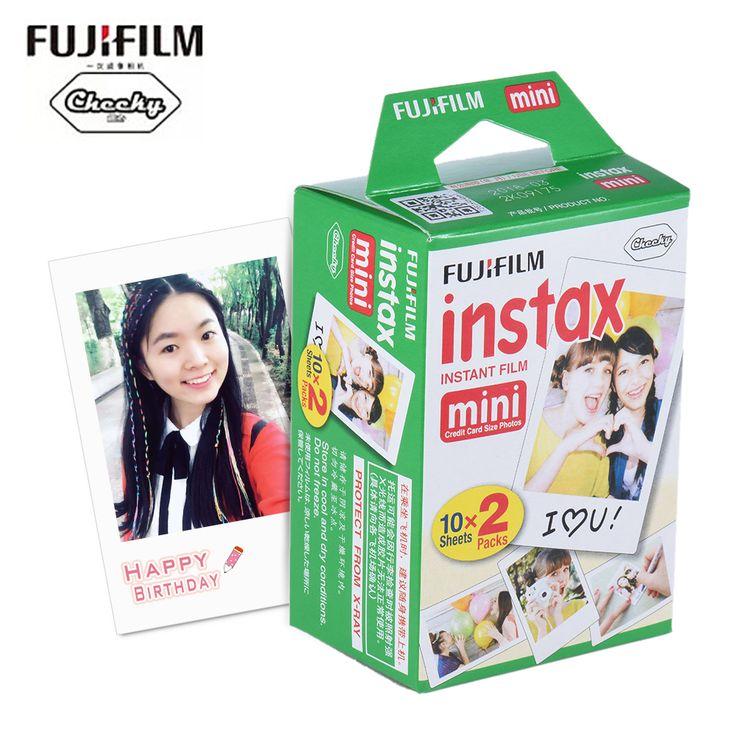20 Feuilles Fujifilm Instax Mini Blanc Film Photo Papier Instantané Album à développement et Tirage Instantanés pour Fujifilm Instax Mini 7 s/8/25/90/9