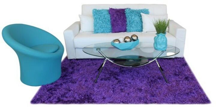 Purple Blue N White Home Decor Pinterest
