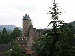 Bertrada castle in Mürlenbach, named after Bertrada of Prüm.