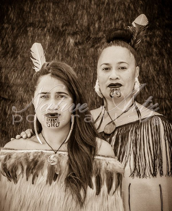 Native Artz Portraits, Mother and daughter, 2013, ataahua wahine, Maori Portrait, get your own at https://www.facebook.com/NativeArtzPortraits