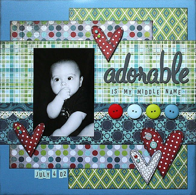 Adorable is My Middle Name-Basic Grey Oliver Layout