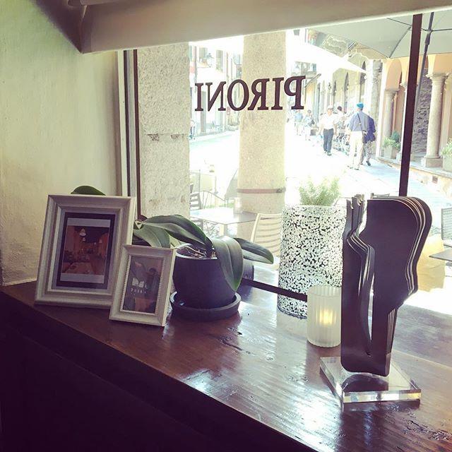 Hotel Pironi - Restaurant Vizi e Sfizi - Art Exposition - Adriano Piu Sculpture #art #artexpo #kunst #kunstler #sculpture #iron #inox #plexiglass #lovelyplace #hotel #beautifulhotels #charminghotel #urlaub #holiday #hotelart #cannobio #lagomaggiore