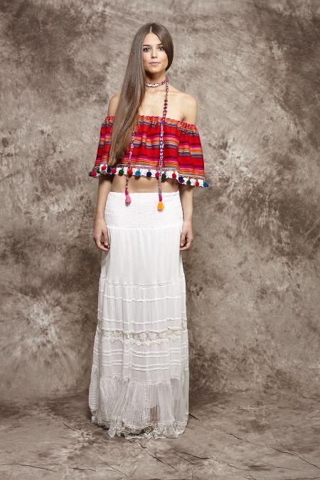 Cuerpo mejicano rojo de rayas - 99,00€ : Zaitegui - Moda y ropa de marca para señora en Encartaciones