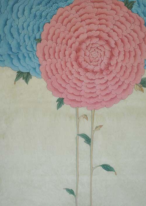 Traditional Korean Minhwa (folk painting) illustrations by