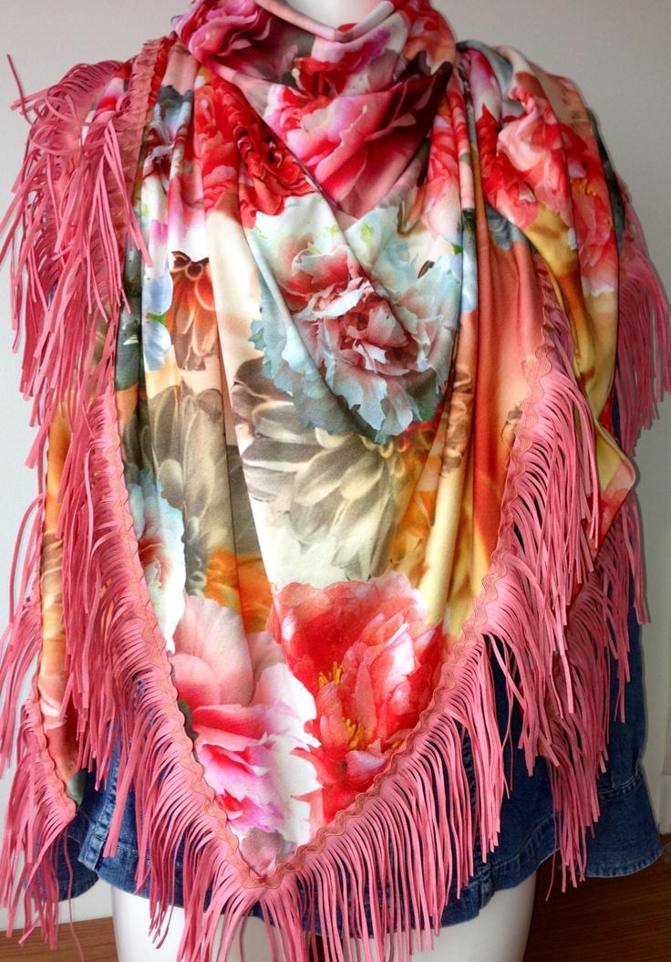 Sjaal/omslagdoek. Pastel