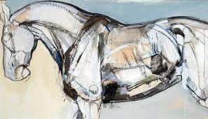 mixed media art on horses - Google Search