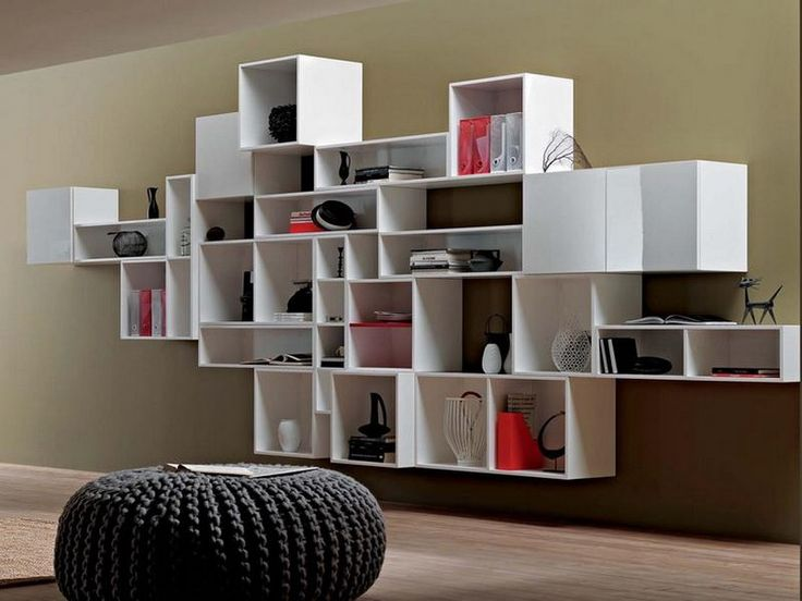 8 best living room bookshelf images on pinterest book for Modern living room shelving units