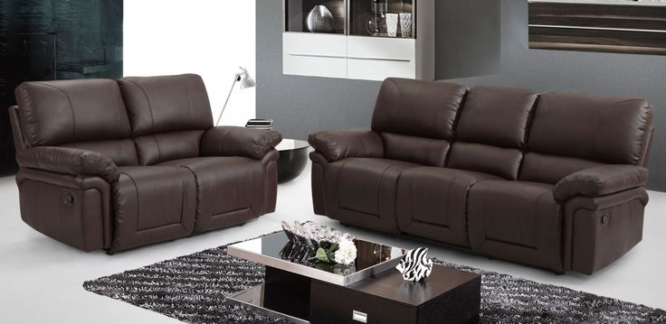 Furniture Furniture Marvellous Dark Brown Upholstered Reclining Sofa Land Overstuffed Arms Seats Backs Extra Support Comfort Cheap Sofas On Finance Furniture Sales Extraordinary Chic Elegant Concept Good Quality Sofas UK