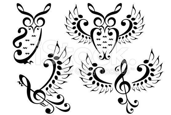 music bird and owl, vector set stock vector art 72466429 - iStock