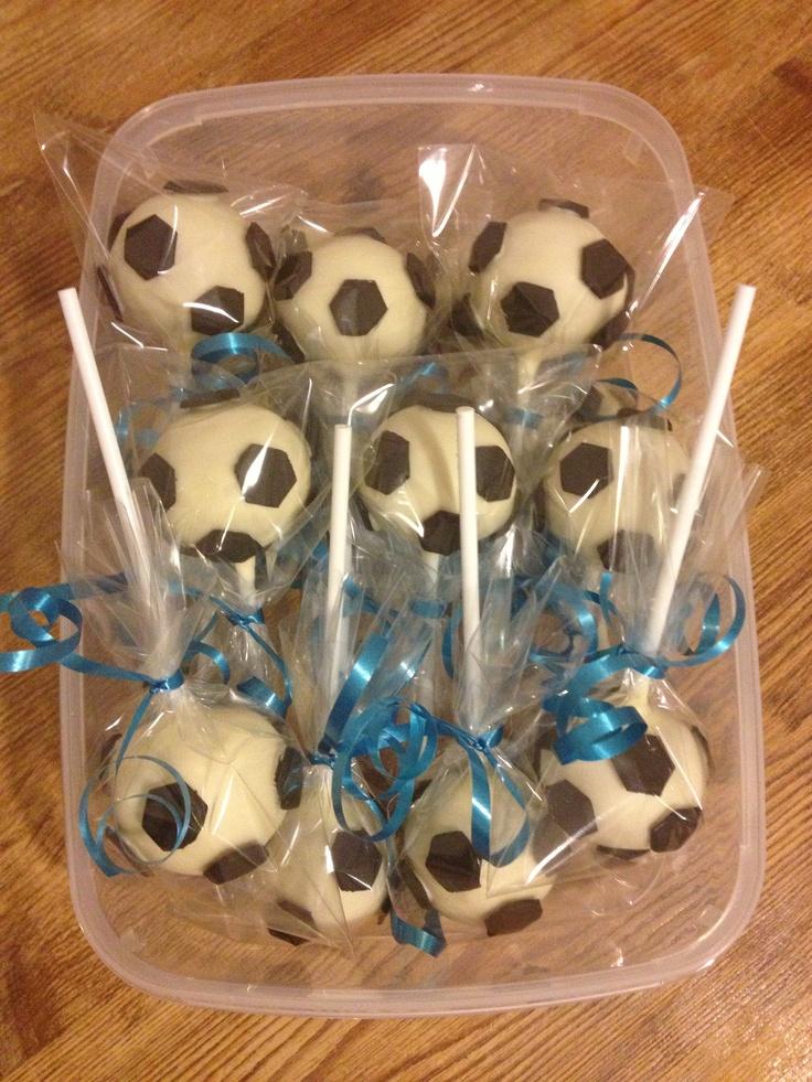 Football/ Soccer cake pops
