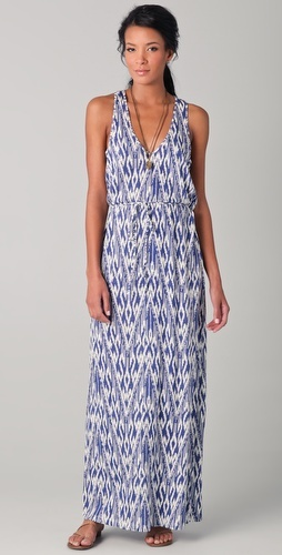 Emilia Ikat Zigzag Maxi Dress