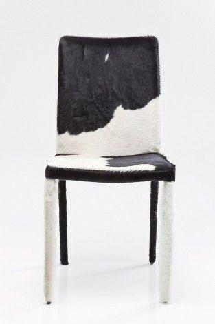 KARE Prague - Leather Chair Fur Black