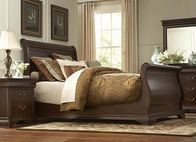 Haverty 39 s orleans sleigh bed for the home pinterest the natural highlights and grains for Havertys bedroom furniture sets