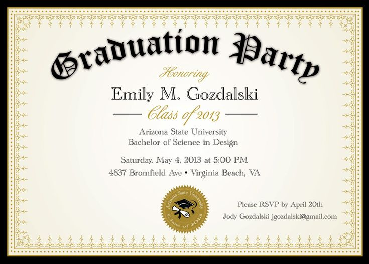 Best Graduation Invitation Templates Images On