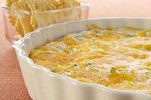 Hot Broccoli-Cheese Dip:  Recently tried this recipe for a family bonfire.  It was extremely easy and delicious!  Tastes best served warm, with tortilla chips or crackers.