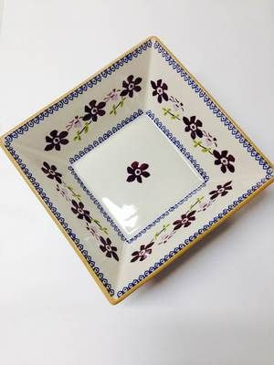 Clematis Medium Square Bowl Nicholas Mosse Pottery
