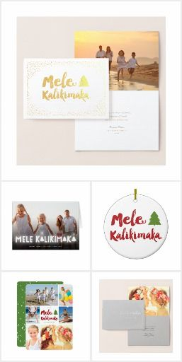 MELE KALIKIMAKA CHRISTMAS | HOLIDAY COLLECTION All 'Mele Kalikimaka' Christmas Cards, Photo Greetings, Matching Stationeries & Accessories | Hawaiian Tropical Christmas Holiday Collection by fatfatin