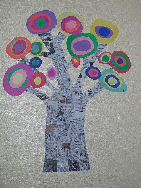 Arbres inspirés de Kandinsky