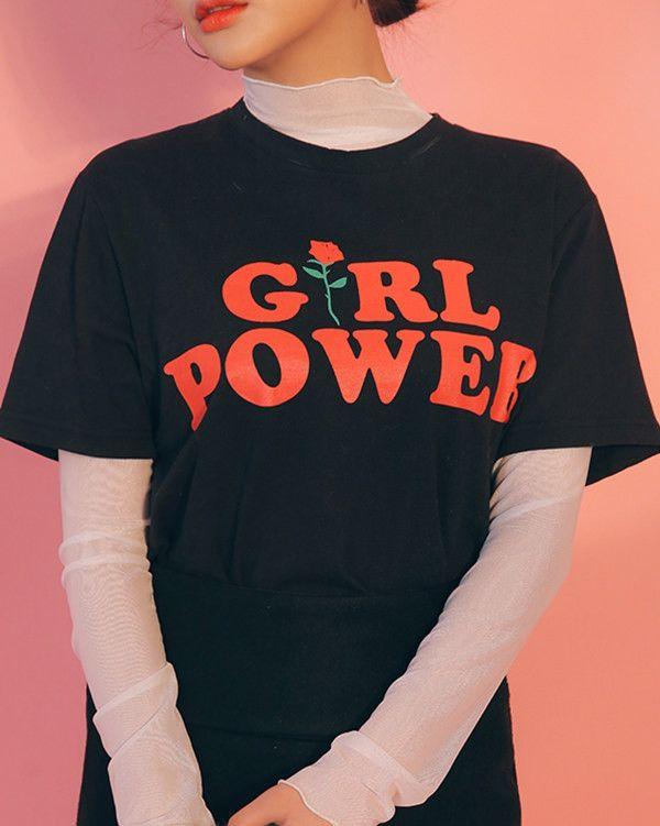Girl Power T-Shirt black boogzel apparel
