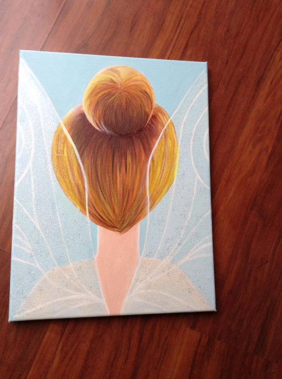 Tinkerbell canvas artwork girls room decor etsy art by RTMDesigns