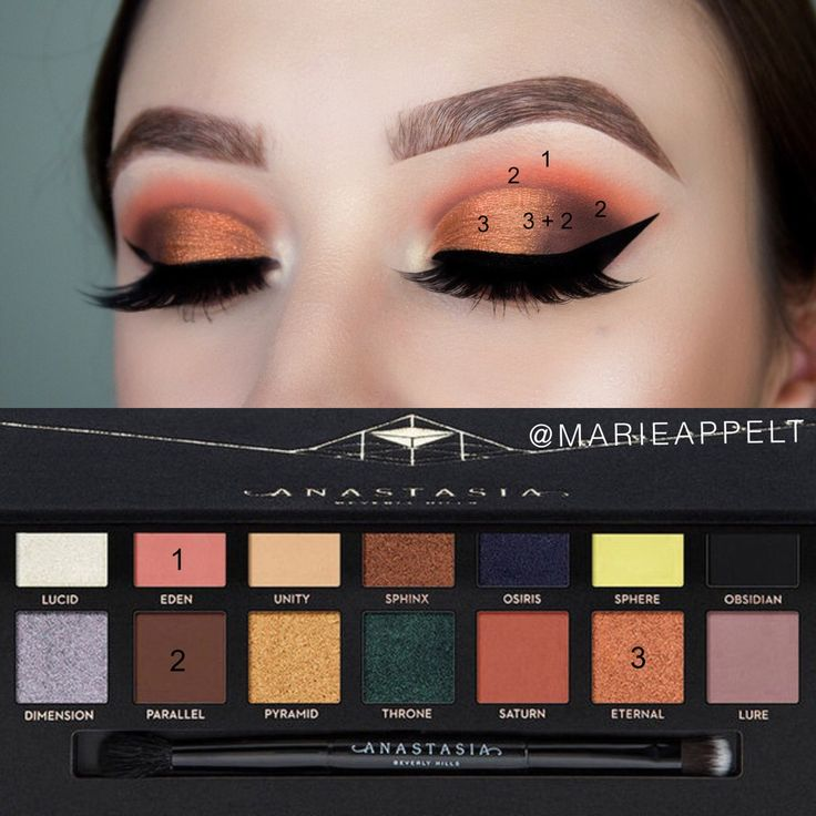 Anastasiabeverlyhills Prism Palette Makeup Tutorial, step by step, makeup, looks, tutorial, beginners, half cut crease