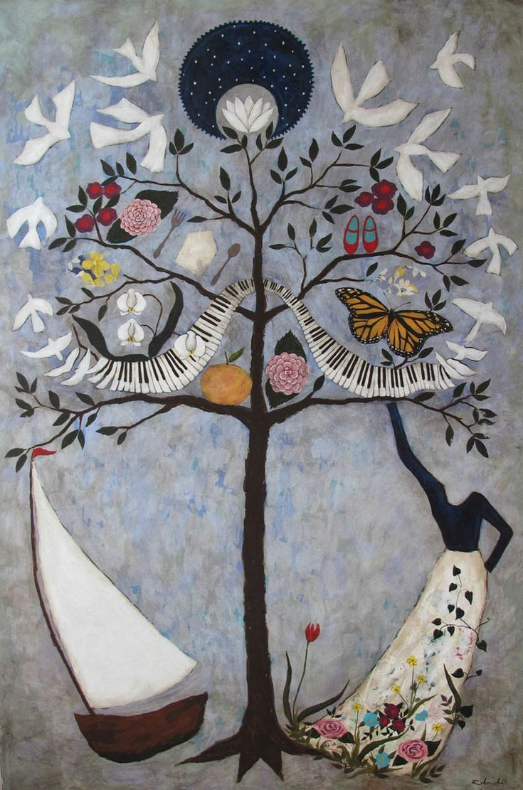 Rebecca Rebouché ... Family Tree Paintings would be my heart to commission one from the spirited artist