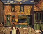 Lawren S. Harris, (1885–1970)  In the Ward, 1920  oil on wood  27 x 34 cm  Purchased with funds donated by Mr. R.A. Laidlaw  McMichael Canadian Art Collection  1970.12.1
