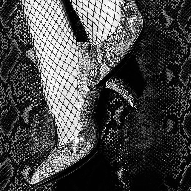 Fashionable high heels in an edgy, on-trend snakeskin finish  #ecco #shape…