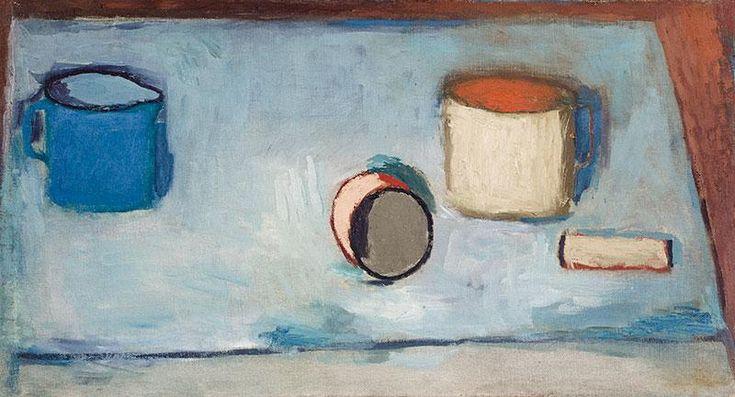 Jerzy Nowosielski - Martwa natura, 1947 r. olej, płótno, 37,5 × 69,5 cm