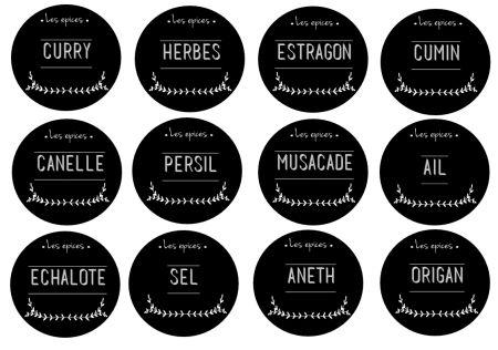 étiquettes pour épices en français