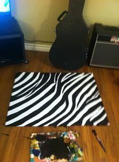 Zebra print painting