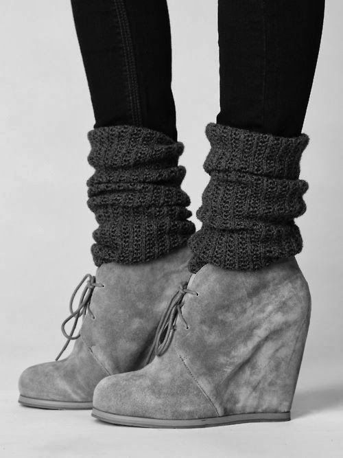 Grey Winter Heels With Skinny Jeans