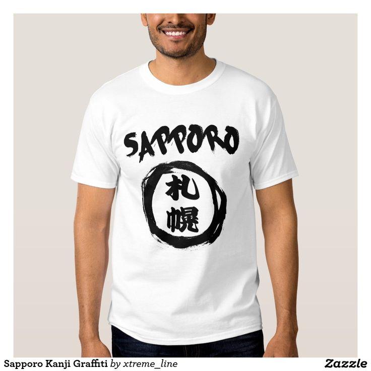 Sapporo Kanji Graffiti T-Shirt