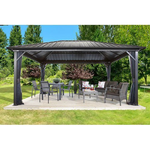 Sojag Genova 16 Ft. W x 12 Ft. D Metal Permanent Gazebo